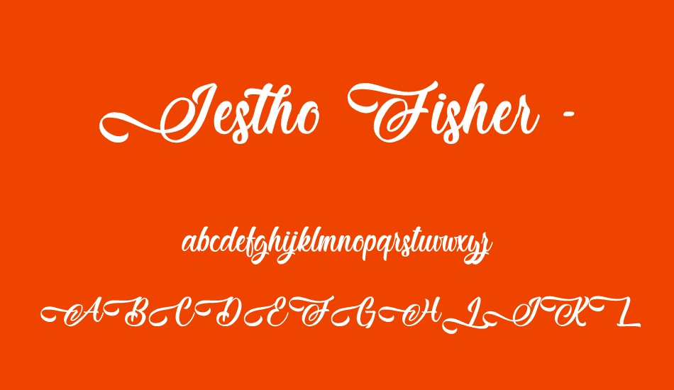 jestho-fisher---personal-use font