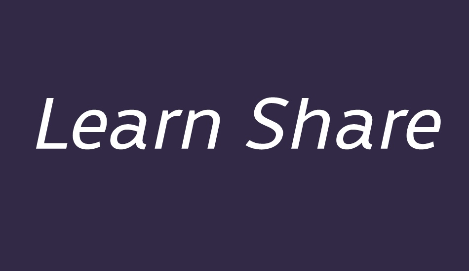 learn-share-colaborate font big