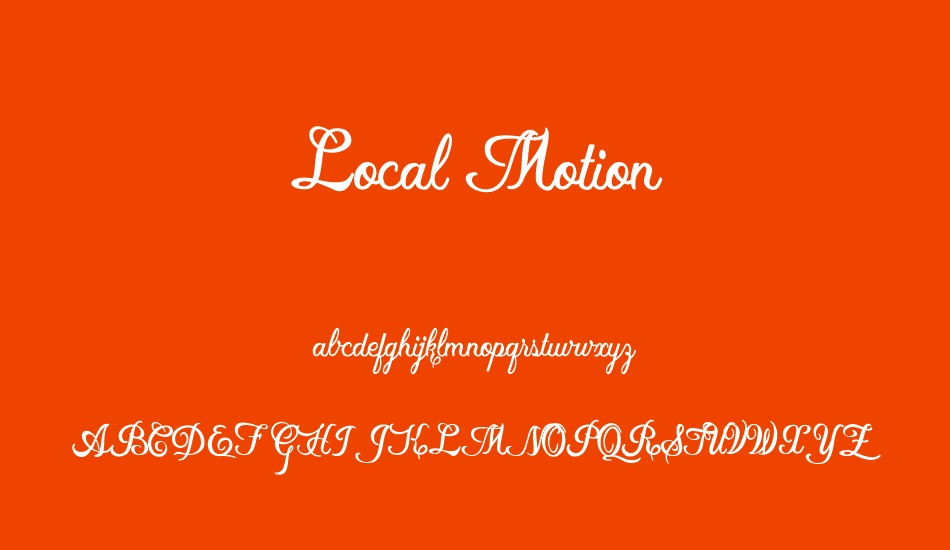 local-motion-personal-use font