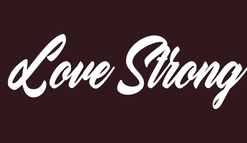 love-strong-personal-use font big