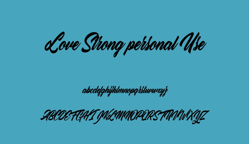 love-strong-personal-use font
