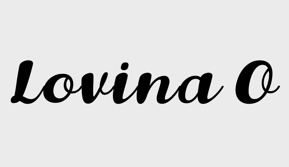 lovina-october-five font big