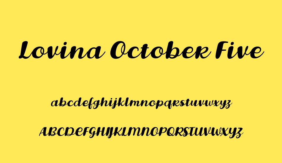 lovina-october-five font