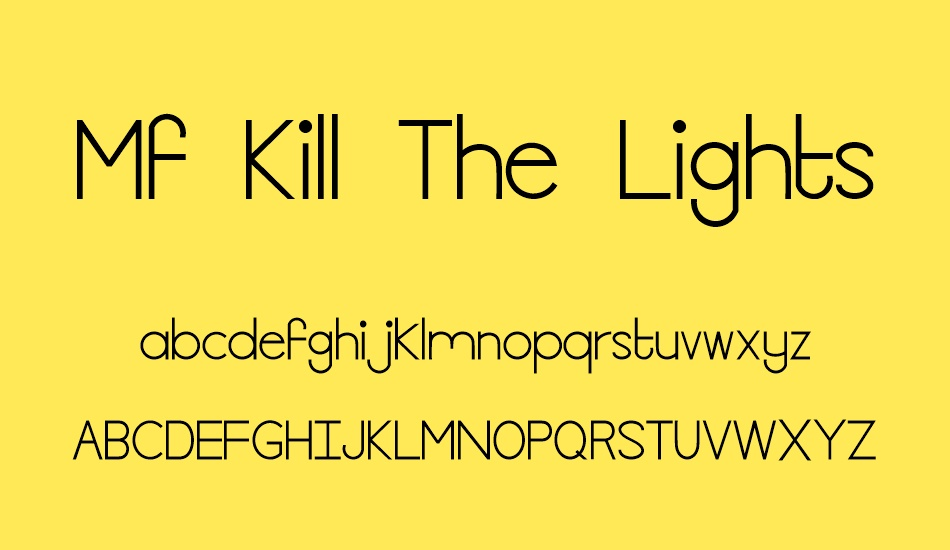 mf-kill-the-lights font