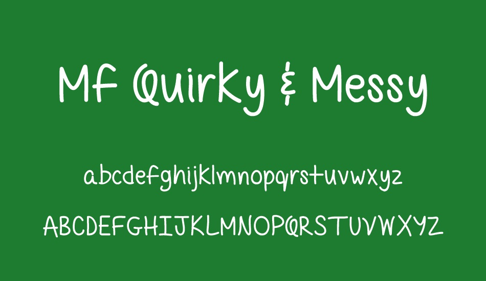 mf-quirky-&-messy font