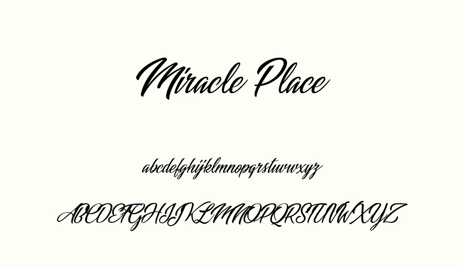 miracle-place-personal-use font