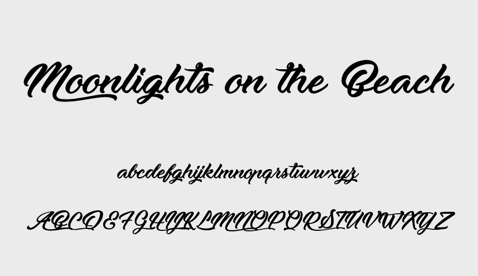 moonlights-on-the-beach font