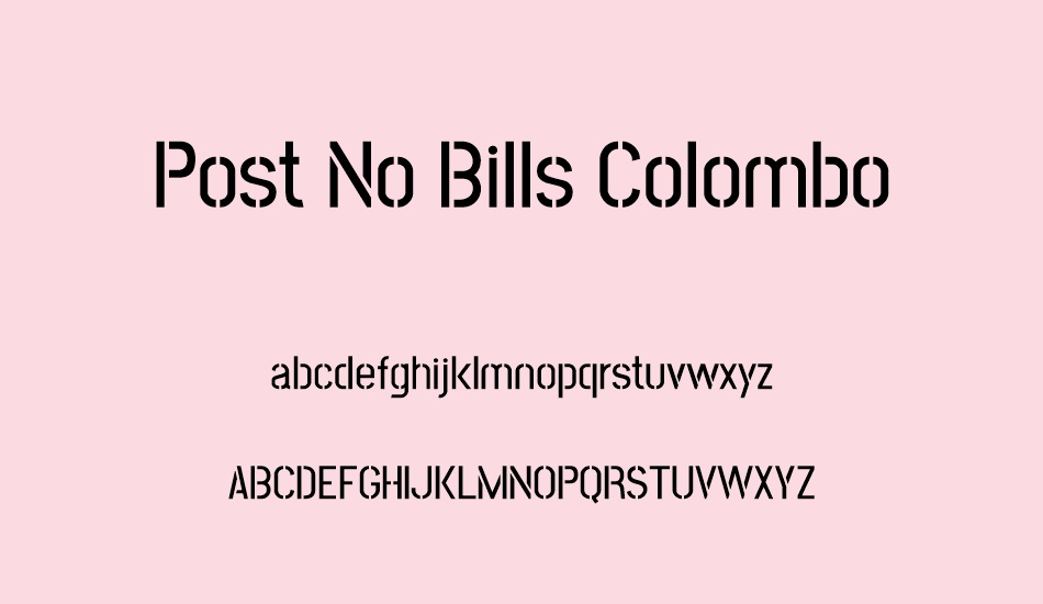 post-no-bills-colombo font
