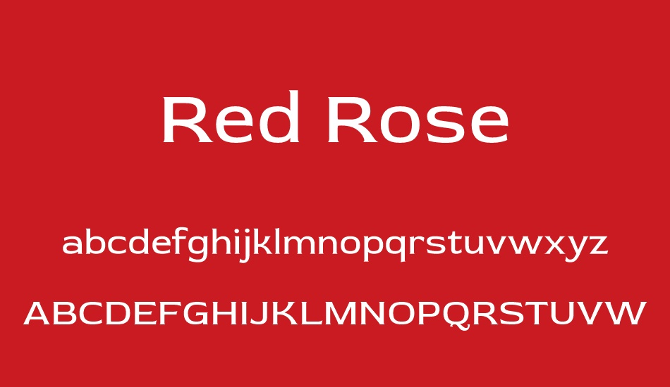red-rose font