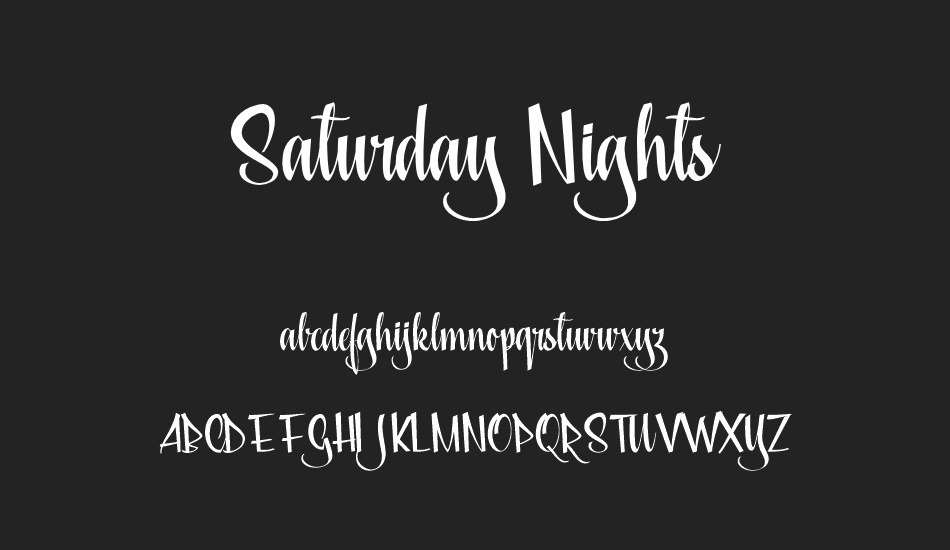 saturday-nights-personal-use font