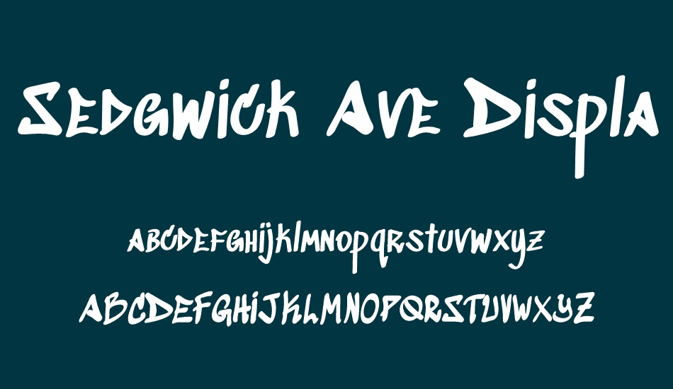 sedgwick-ave-display font