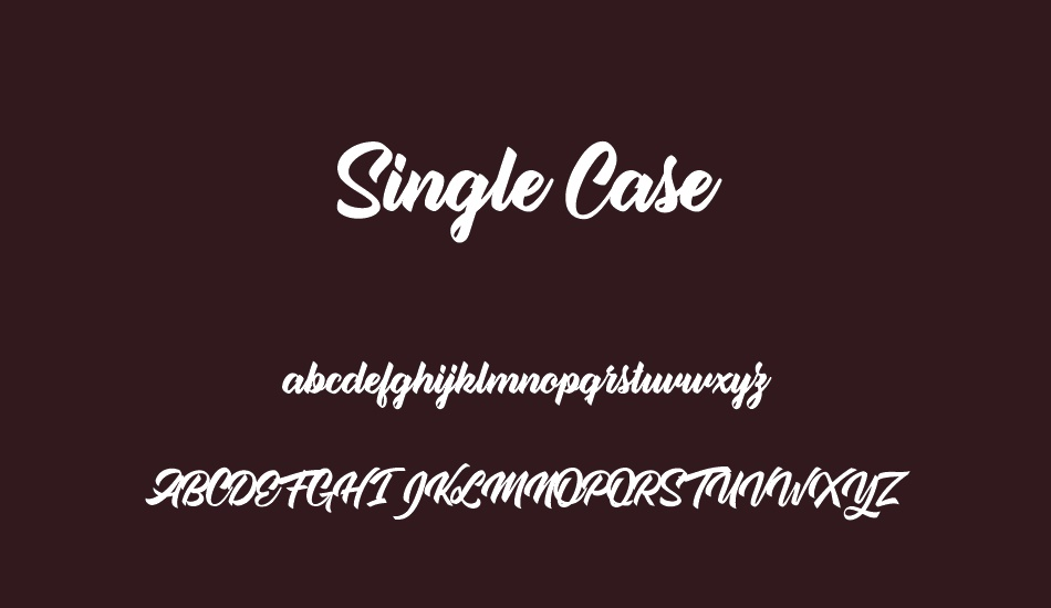 single-case-personal-use font