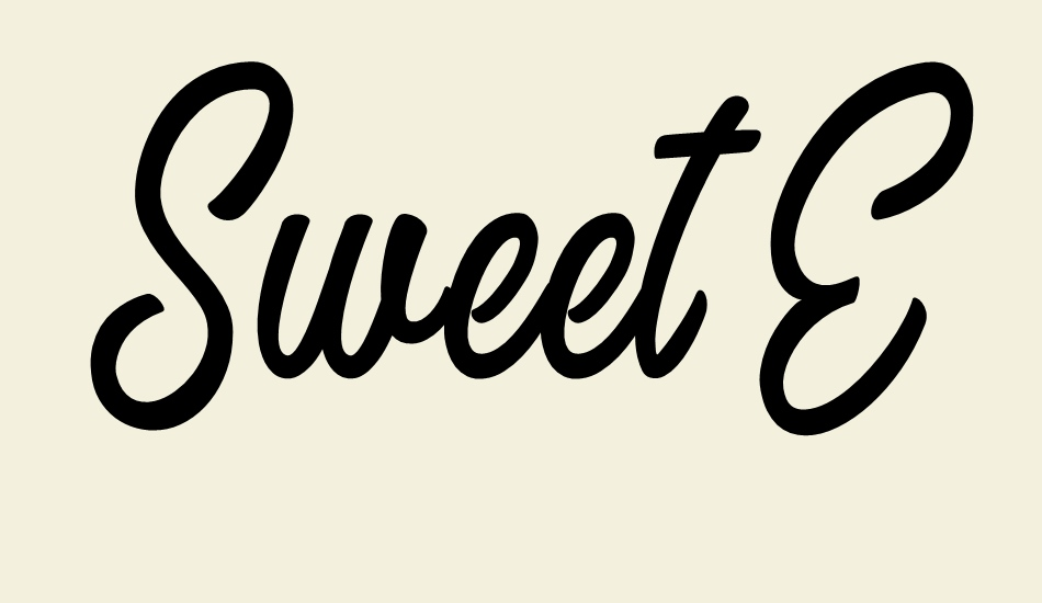 sweet-easy-personal-use font big