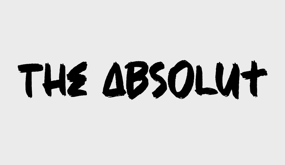the-absolute-brush font big