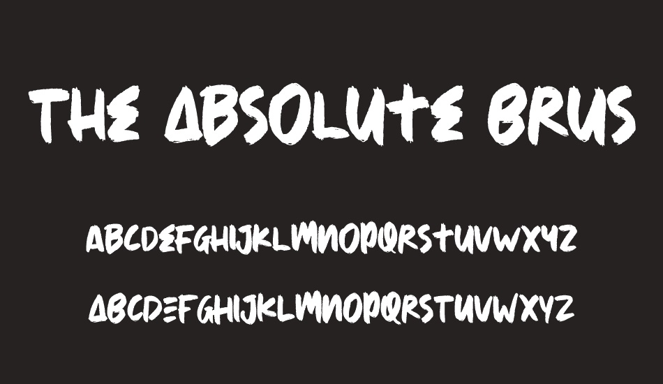 the-absolute-brush font
