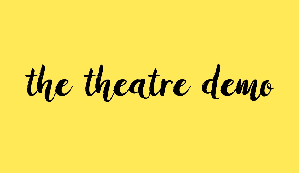 the-theatre-demo font big