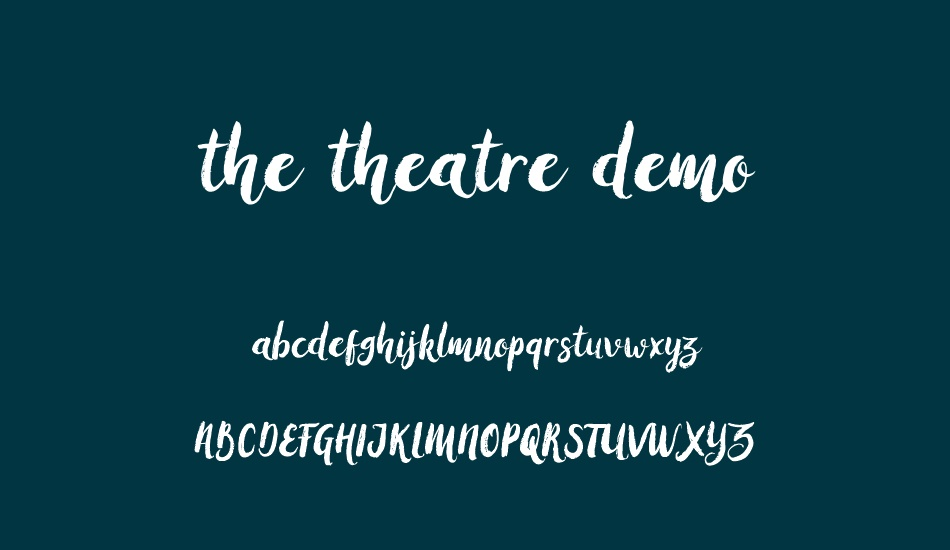 the-theatre-demo font
