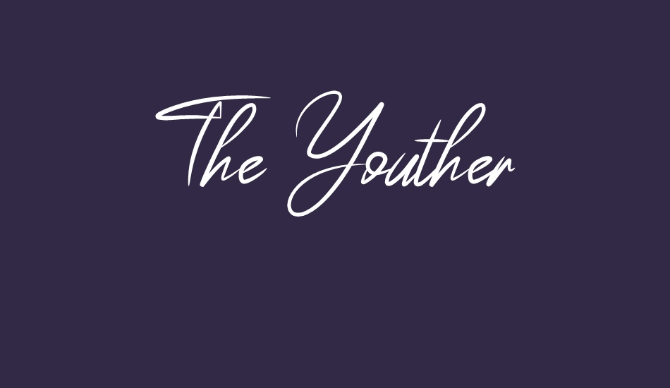 the-youther font big