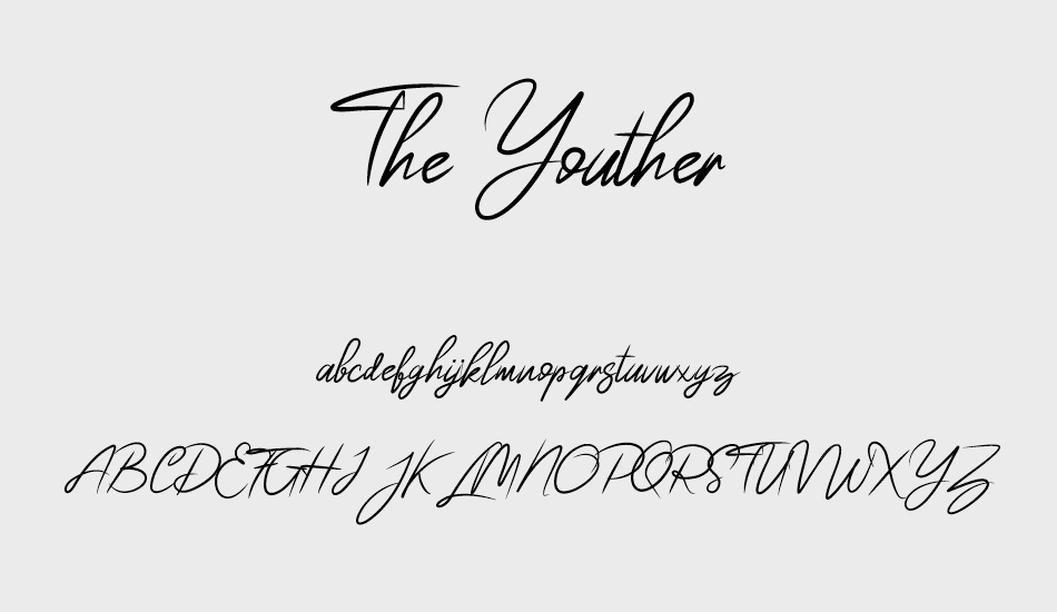 the-youther font