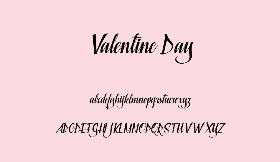 valentine-day-personal-use font