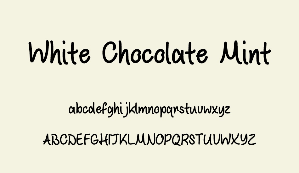white-chocolate-mint font