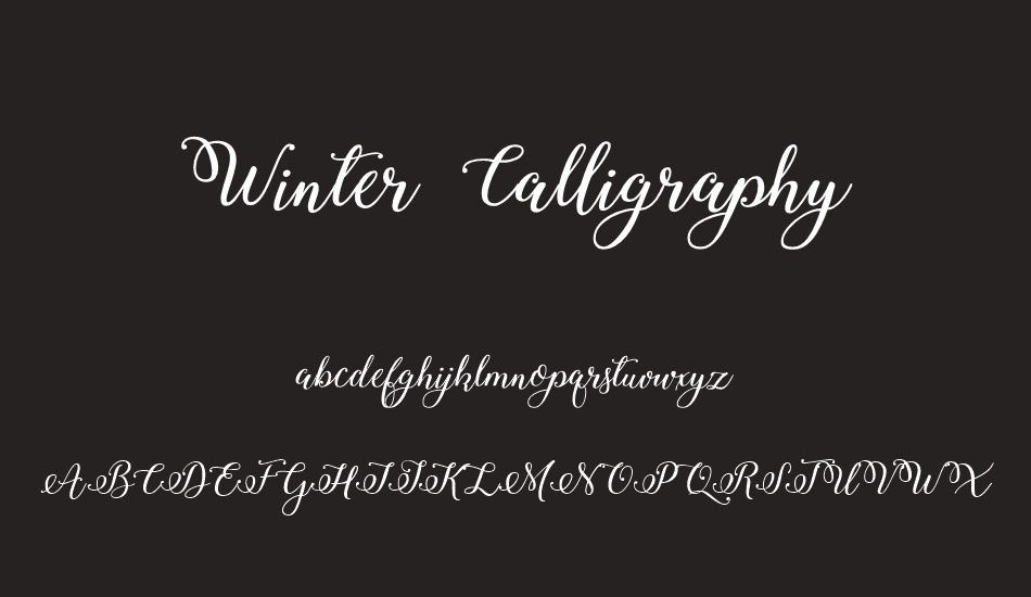 winter-calligraphy font