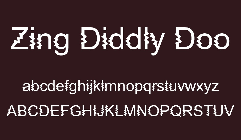 zing-diddly-doo-zapped font